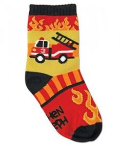 Stephen Joseph Toddler Socks - Firetruck