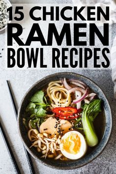 If you're looking for simple and easy hacks to help you upgrade a packet of ramen, we've curated 75 of the best instant ramen recipes for every palette! Spicy Ramen Recipe, Simple Noodle Soup Recipe, Chicken Ramen Recipe, Ramen Recipes, Easy Soup Recipes, Chicken Rice, Chicken Recipes, Spicy Ramen Noodles, Recipes
