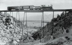 High bridge near Buena Vista, by William Henry Jackson, c. late 1800s