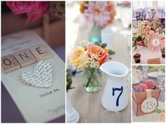 Creative Table Numbers - Back to Style