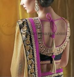Saree Blouse Patterns: Sequins Work Crystal Blouses