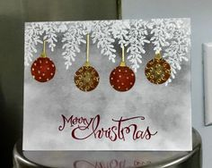 Merry Christmas Bulbs by jandjccc - Cards and Paper Crafts at Splitcoaststampers