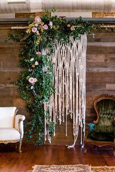 """Large """"Lace"""" Macrame Wedding Backdrop #outdoorwedding #weddingdecor"""