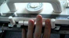 brother strickmaschine anleitung - YouTube