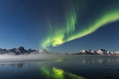 sea fog and auroras
