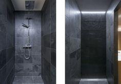 Aménagement d'un studio. Zoomfactor architectes. Salle de bain