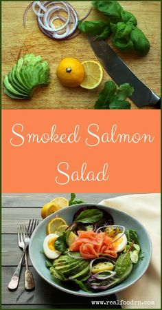 A fresh lovely smoked salmon salad that is delicious and quick to prepare. Enjoy it as a healthy lunch or a light supper perfect for summer evenings. Clean Eating Salads, Healthy Eating, Healthy Food, Herb Recipes, Real Food Recipes, Smoked Salmon Salad, Healthy Salad Recipes, Paleo Recipes, Quick Meals