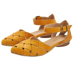 Sophie Yellow Sandals Leather Sandals Handmade Flats Leather Shoes by... ($189) ❤ liked on Polyvore featuring shoes, sandals, silver, women's shoes, buckle flats, flat heel shoes, leather footwear, leather shoes and leather flats
