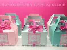 Cajita tipo lonchera, para regalar un kit a tus pequeños invitados o dulces. Barbie Birthday, Girl Birthday, Ideas Sorpresa, Affordable Wedding Favours, Baby Shower Favours, Gable Boxes, Troll Party, Party In A Box, Candy Party
