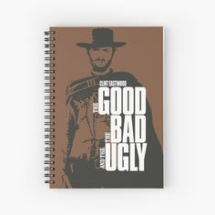 Clint Eastwood Cahier à spirale Clint Eastwood, Westerns, Western Film, Film Movie, Father, Notebook, Movie Posters, Pai, Movie