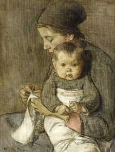 Mother and Child Elizabeth Nourse (1859-1938) American Read more HERE