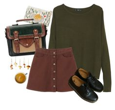 """Untitled #2354"" by momoheart ❤ liked on Polyvore featuring Danica Studio, MANGO, Monki and Dr. Martens"