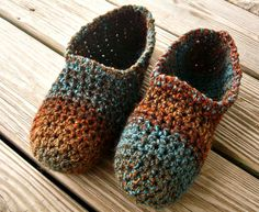10 Off  Hand Crocheted Slippers  Crochet Moccasin by pixiebell, $27.00