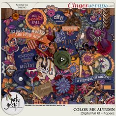 Color Me Autumn Digital Full Kit by Paty Greif
