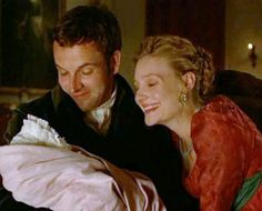 """Knightley: """"Tell your aunt, little Emma, not to renew old grievances."""" Emma: """"Very true, little one. Grow up to be a far better woman than your aunt. Be infinitely cleverer and not so conceited. Emma Jane Austen, Jane Austen Movies, Couples Quiz, Romola Garai, Emma Woodhouse, Jonny Lee Miller, Elizabeth Gaskell, Bbc Drama, Pride And Prejudice"""