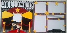 365 Days Of Cricut: #59 Hollywood Scrapbook Page