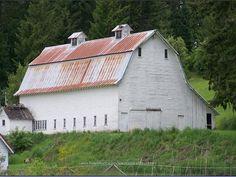 white shabby barn | Flickr - Photo Sharing!