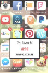 My Favourite Apps For Project Life