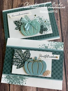 Halloween Cards, Fall Halloween, Thanksgiving Cards, Christmas Cards, New Things To Try, Pumpkin Cards, Leaf Cards, Autumn Cards, Card Making Tutorials