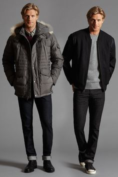 Layered on luxury - two looks for this fall.