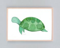 This is a turtle art print created with watercolor overlays and various other mediums titled Baby Turtle Small Medium x 42 cm or x cm) - Medium Size - Bleeds to edge of paper (no white border) x cm) - Medium Size - Bleeds Baby Nursery Art, Baby Art, Nursery Prints, X 23, Large Art Prints, Baby Turtles, Art Mural, Baby Prints, Sea Creatures