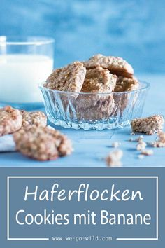 Quick oatmeal cookies without sugar and without flour - Today there are sugar-free cookies with oats, cinnamon and banana. These sugar-free oatmeal cookies - Sugar Free Cookies, Sugar Cookies Recipe, Oatmeal Cookies, Chip Cookies, Cookie Recipes, Snack Recipes, Free Recipes, Oatmeal Biscuits, Oatmeal Cake