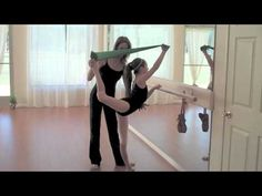 Theraband for stretching and flexibility - ballet, scorpion, arabesque, attitude - YouTube