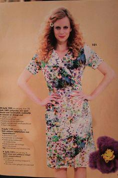Helemaal klaar voor de lente met dit jurkje uit de knip. Stof is van Hilco, verkrijgbaar bij SuZ ❤