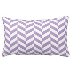 Lilac chevron twill throw pillow #purple