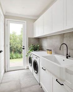 A very clean and modern laundry room that is perfect in a narrow space.A very clean and modern laundry room that is perfect in a narrow space.A very clean and modern laundry room that is perfect in a narrow space.There are several tasks in life which Mudroom Laundry Room, Laundry Room Layouts, Laundry Room Remodel, Laundry Room Organization, Laundry In Bathroom, Laundry Room Floors, Laundry Decor, Laundry In Kitchen, Laundry Area