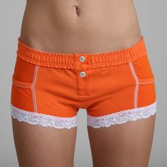 Sport Orange Boxer Brief - These boxer briefs are roomier than our boyshorts, ultra comfortable and soft. There are sheer pockets on each side to stash stuff (we'll let you be creative about what they're for). The snap buttons in the front match our western sheer tops and allow extra room when getting in or out.