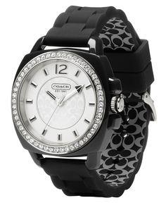 COACH BOYFRIEND SILICON RUBBER STRAP WATCH - Women's Watches - Jewelry & Watches - Macy's