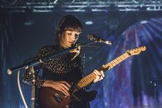 Elena Tonra of Daughter on stage at Pyramids Centre in Portsmouth (18th January 2016).   Tom Langford
