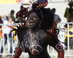 Taken at the Carnaval in Barranquilla, Colombia. Colombian People, My Sweet Sister, Dance Sing, Face Expressions, African Diaspora, Warrior Princess, African Beauty, Beautiful Black Women, Black Girls