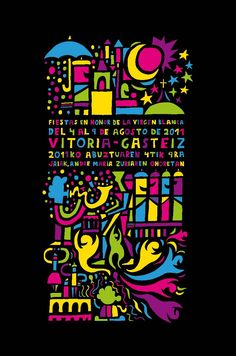 Cartel Fiestas Victoria (Virgen Blanca) 2011