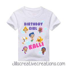 Bubble Guppie T-Shirt, Bubble Guppies, Birthday T-shirts, Bubble #jillscreativecreations #Everyday