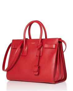Saint Laurent handbag in Red, The New Neutral.