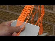 Net making with a shuttle: Net Making basic knot up close