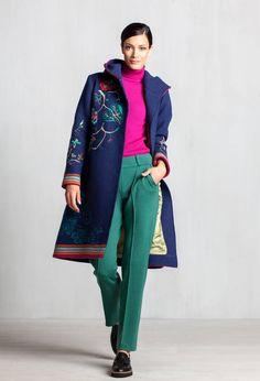 Boiled Wool Coat with Embroid. - Coat | Ivko Woman