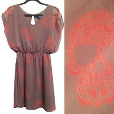 Buttons Abstract Sugar Skull print dress. Price: $35 Size: S