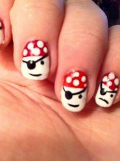 Интересный маникюр на пиратскую тему ::: onelady.ru ::: #nail #nails #nailart #manicure