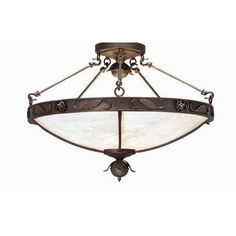 2nd Ave Design Arabesque 5 Light Inverted Pendant Finish: Corinth