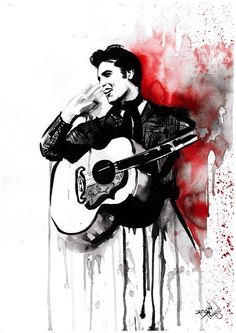 Elvis More on Therese Rosier Art ..♥♥♥♥♥♥♥..
