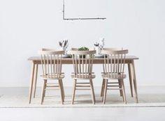 Lind matgrupp - Bord + 6 stolar i laminat/vitoljad ek - Svenska Hem Interior Inspiration, Dining Table, Furniture, Instagram, Home Decor, Dining Room Table, Decoration Home, Room Decor, Home Furniture