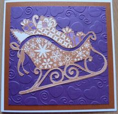 Santa' s sleigh stamped, embossed & cut out