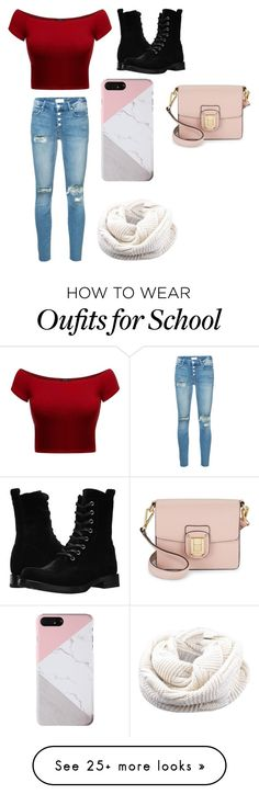 """School day"" by reaganpirog on Polyvore featuring Mother, Frye and Sam Edelman"