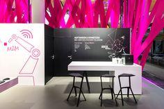 Deutsche Telekom Trade Fair Stand at Hannover Messe 2015 by hartmannvonsiebenthal, Hannover – Germany http://ift.tt/24x5zJU