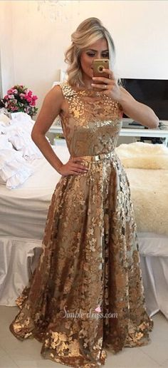 prom dresses, 2016 long prom dresses, gold sequined prom dresses, prom dresses with ribbon