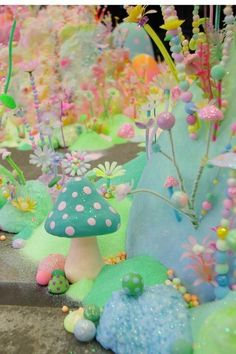 Pastel mushroom colours