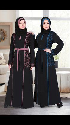 Muslim Dress, Hijab Dress, Trendy Outfits, Fashion Outfits, Order Contacts, Abaya Designs, Abaya Style, Brokat, Abaya Fashion